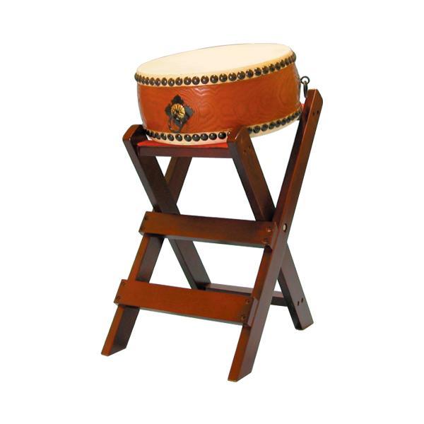 タモくりぬき平太鼓1.2尺(耳無し) 子ども用台座セット