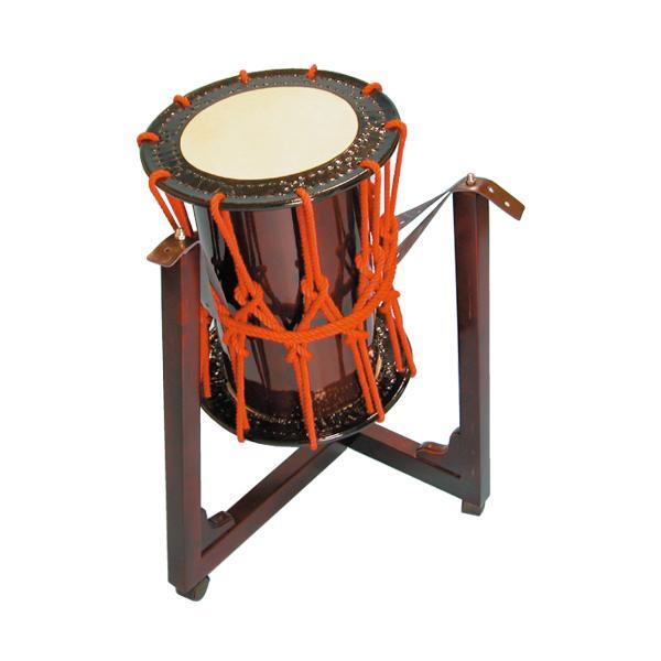 桶胴太鼓1.2尺(茶色胴)三柱台座セット
