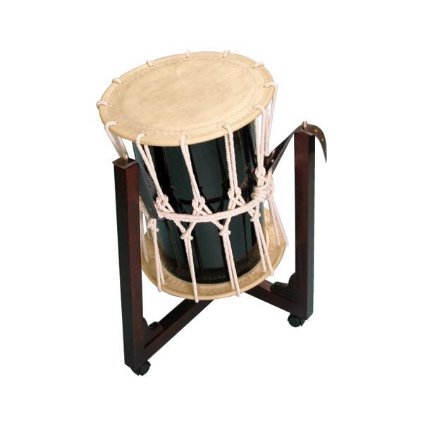 桶胴太鼓1.4尺(白紐)三柱台座セット