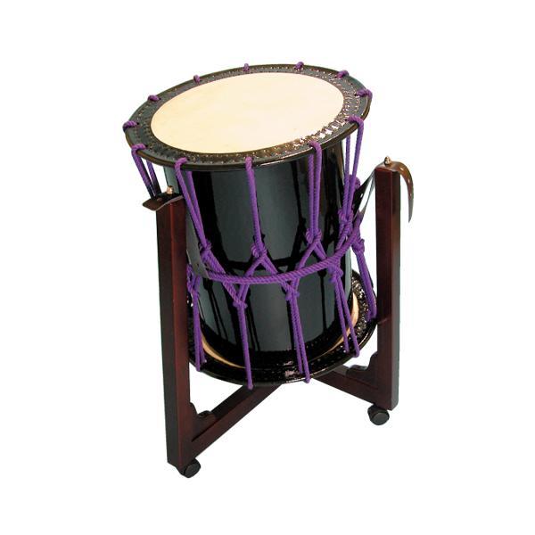 桶胴太鼓1.6尺(紫紐)三柱台座セット
