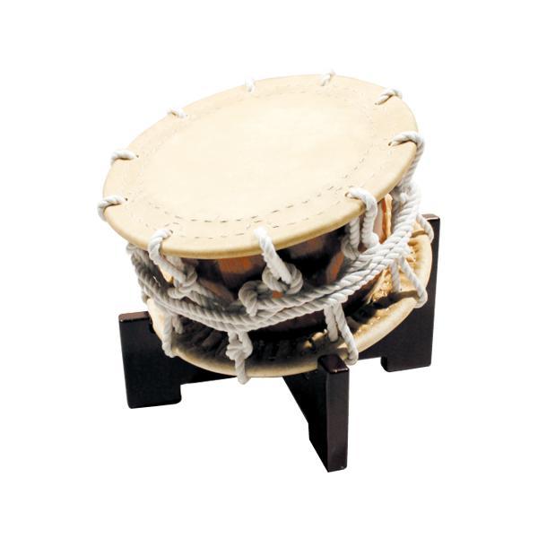 締太鼓2丁掛(ひも締め・くりぬき胴) 木製座り台座セット