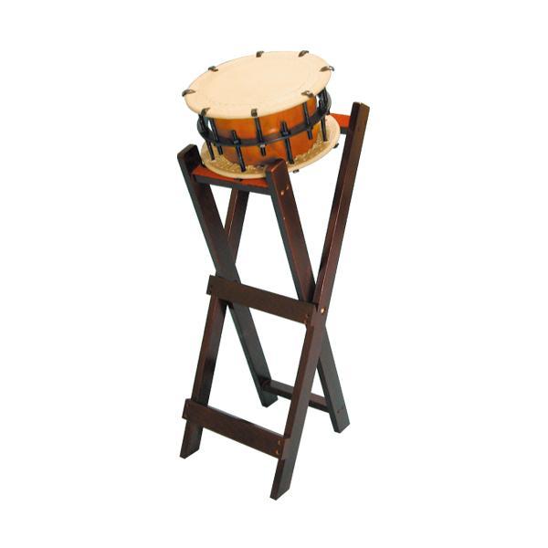 締太鼓30cm(ボルト締め・くりぬき胴) 立台座セット