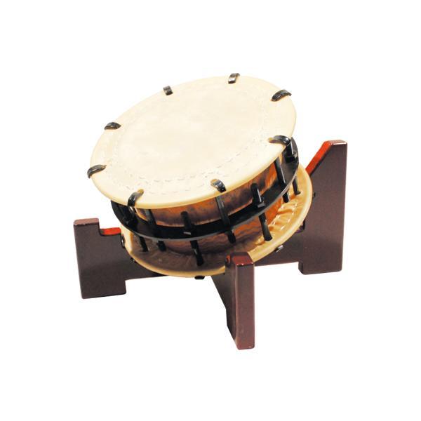 締太鼓30cm(ボルト締め・くりぬき胴) 木製座り台座セット