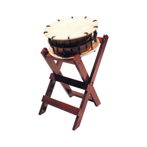 締太鼓35cm(ボルト締め・くりぬき胴) 子ども用立台座セット