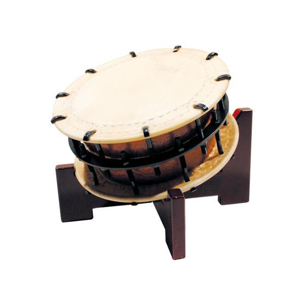 締太鼓35cm(ボルト締め・あわせ胴) 木製座り台座セット