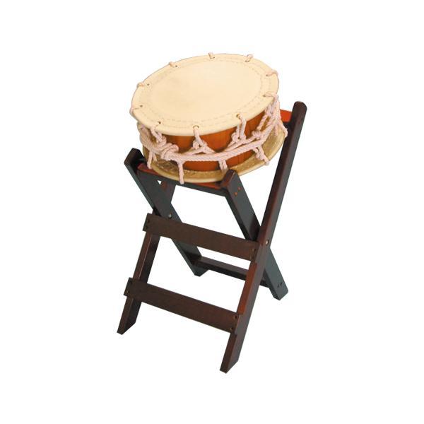 締太鼓35cm(ひも締め・あわせ胴) 子ども用立台座セット