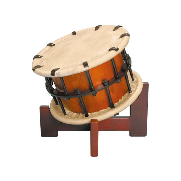 締太鼓3丁掛(ボルト締め・くりぬき胴) 木製座り台座セット