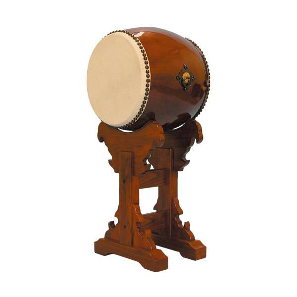 【和太鼓】長胴太鼓1.2尺(耳無し) 宮台座付き 送料無料