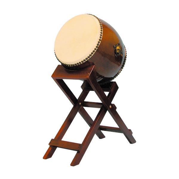 【和太鼓】長胴太鼓1.2尺(耳無し) 斜め台座付き