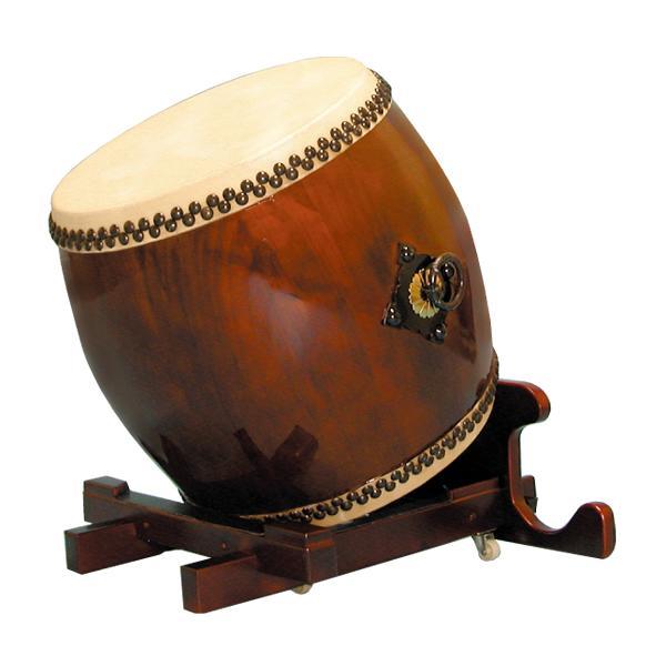 【和太鼓】長胴太鼓1.4尺(耳無し) 万能台座付き 送料無料