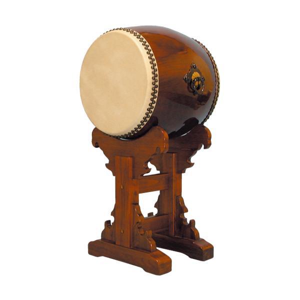 【和太鼓】長胴太鼓1.4尺(耳無し) 宮台座付き 送料無料