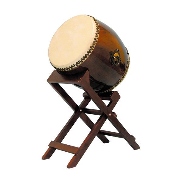 【和太鼓】長胴太鼓1.4尺(耳無し) 斜め台座付き 送料無料