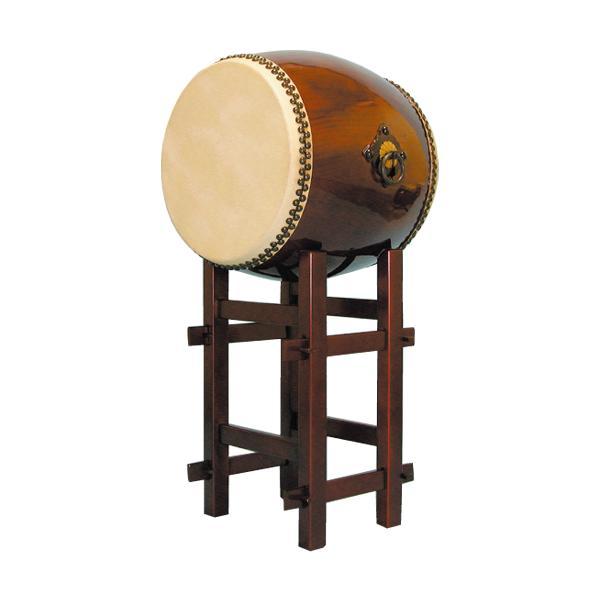 【和太鼓】長胴太鼓1.4尺(耳無し) 高台座付き 送料無料