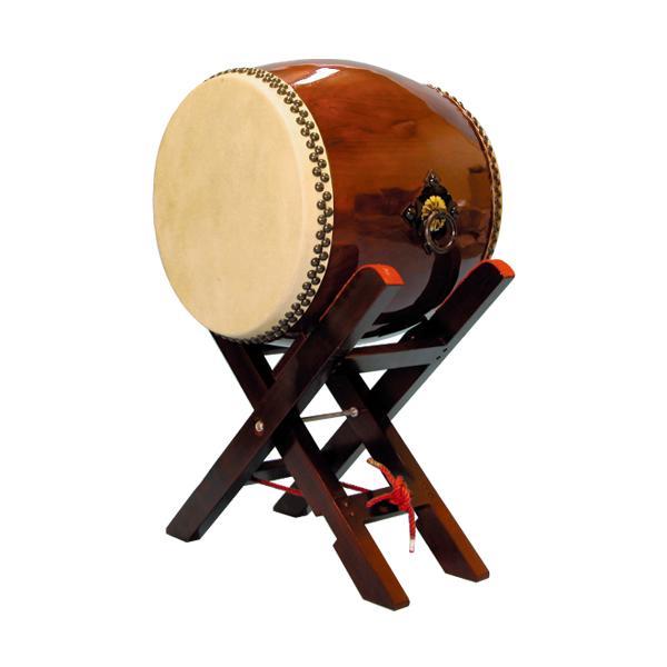 【和太鼓】長胴太鼓1.4尺(耳無し) エックス台座付き 送料無料