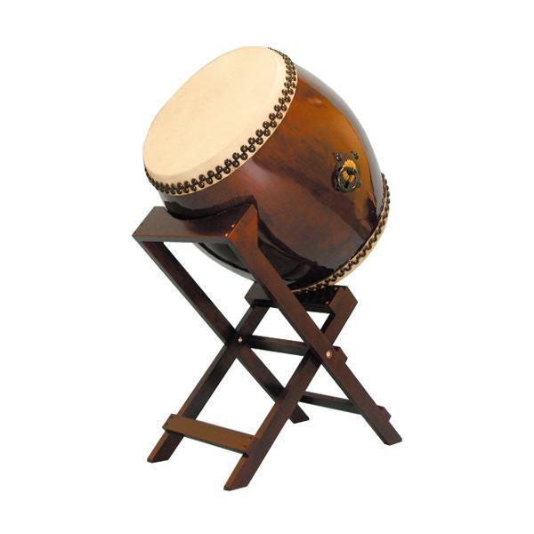 【和太鼓】長胴太鼓1.5尺(耳無し) 斜め台座付き