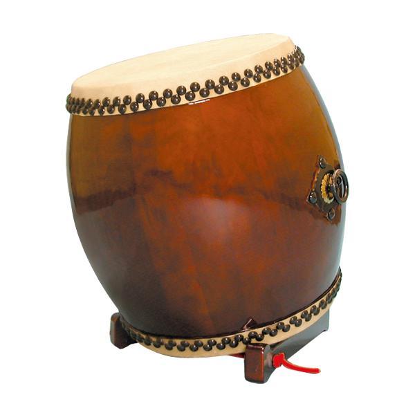 【和太鼓】長胴太鼓1.5尺(耳無し) 折りたたみ低斜め台座付き 送料無料