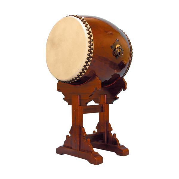 【和太鼓】長胴太鼓1.8尺(耳無し) 宮台座付き