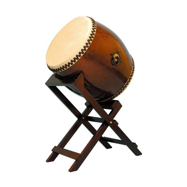 【和太鼓】長胴太鼓1.6尺(耳無し)斜め台座付き 送料無料