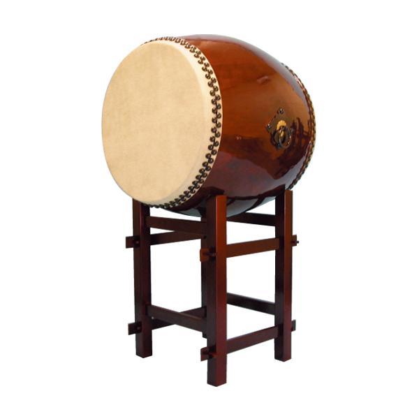 【和太鼓】長胴太鼓2.2尺(耳無し) 80cm高台座付き