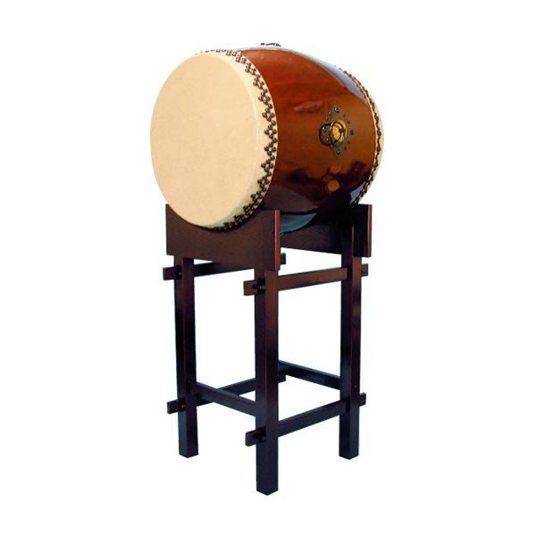【和太鼓】長胴太鼓2.5尺(耳無し) 台座付き 送料無料