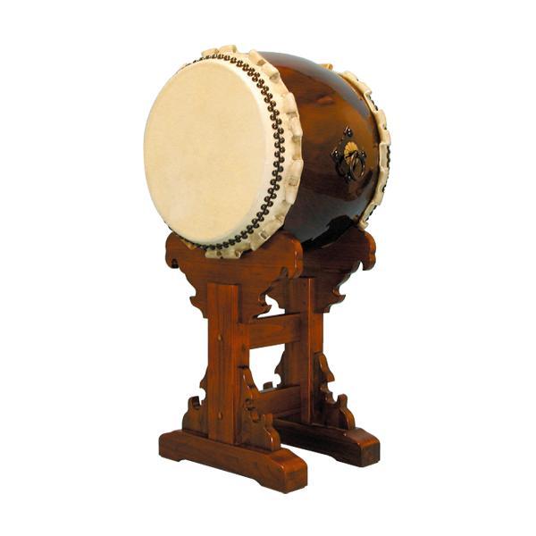 【和太鼓】長胴太鼓『響』1.4尺 宮台座付き