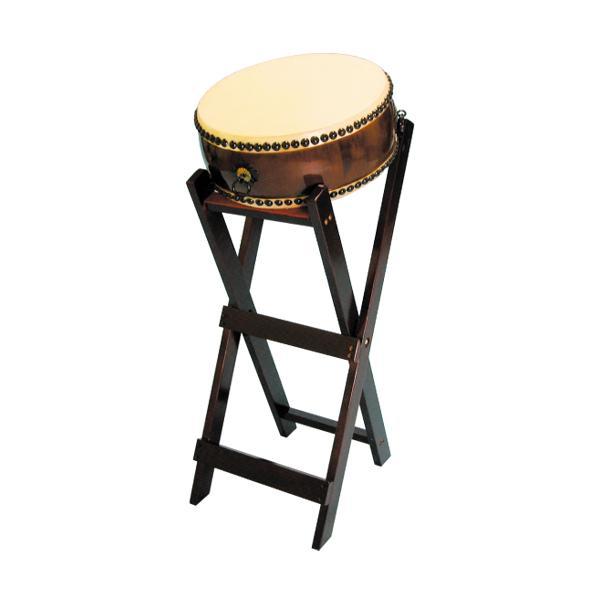 【和太鼓】平太鼓1.2尺 立台座、バチ付 送料無料