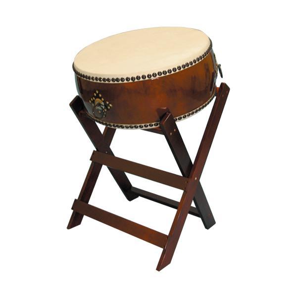 【和太鼓】平太鼓2.0尺 立台座、バチ付 送料無料