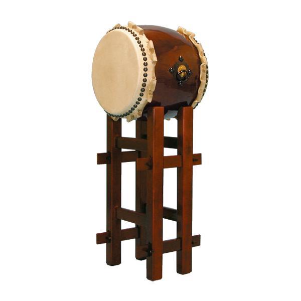 【和太鼓】長胴太鼓1.0尺(巻耳) 高台座付き 送料無料
