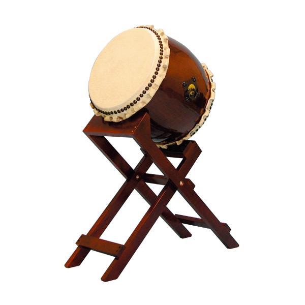 【和太鼓】長胴太鼓1.2尺(巻耳) 斜め台座付き 送料無料