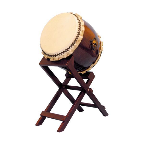 【和太鼓】長胴太鼓1.4尺(巻耳) 斜め台座付き 送料無料