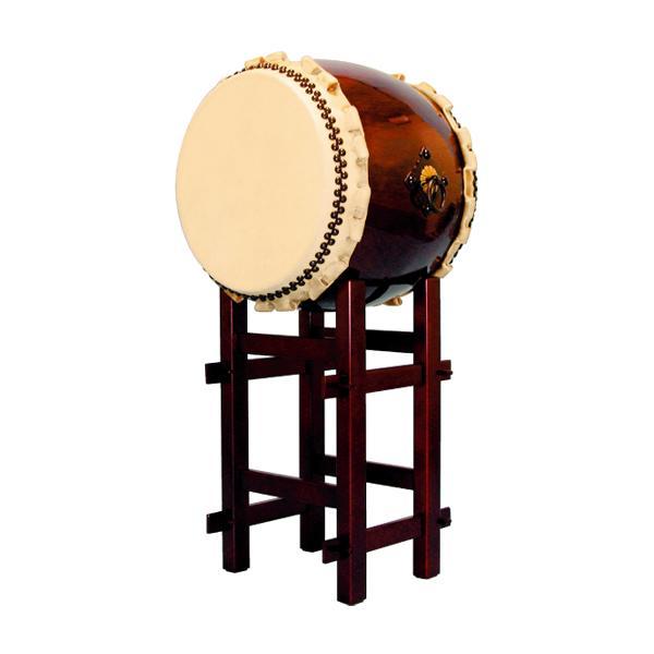 【和太鼓】長胴太鼓1.4尺(巻耳) 高台座付き 送料無料