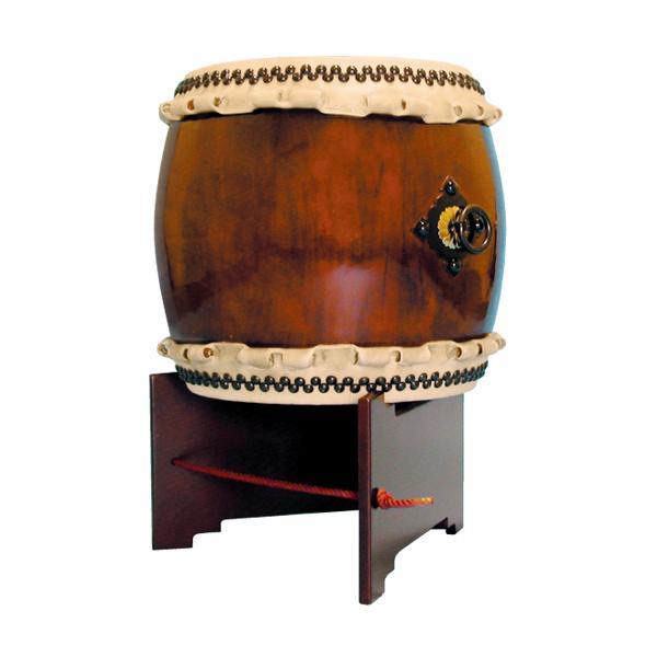 【和太鼓】長胴太鼓1.4尺(巻耳) V字台座付き 送料無料