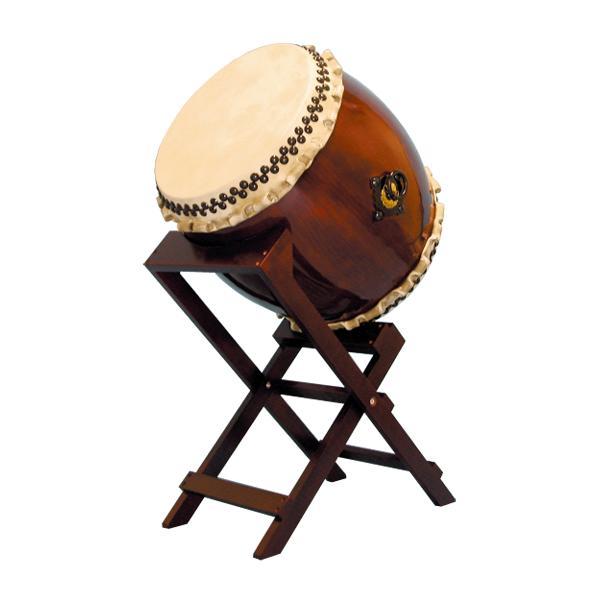【和太鼓】長胴太鼓1.5尺(巻耳) 斜め台座付き 送料無料
