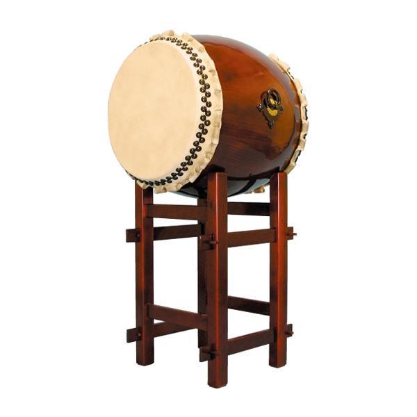 【和太鼓】長胴太鼓1.5尺(巻耳) 高台座付き 送料無料