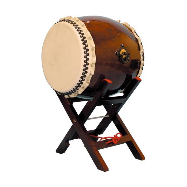 【和太鼓】長胴太鼓1.5尺(巻耳) エックス台座付き 送料無料