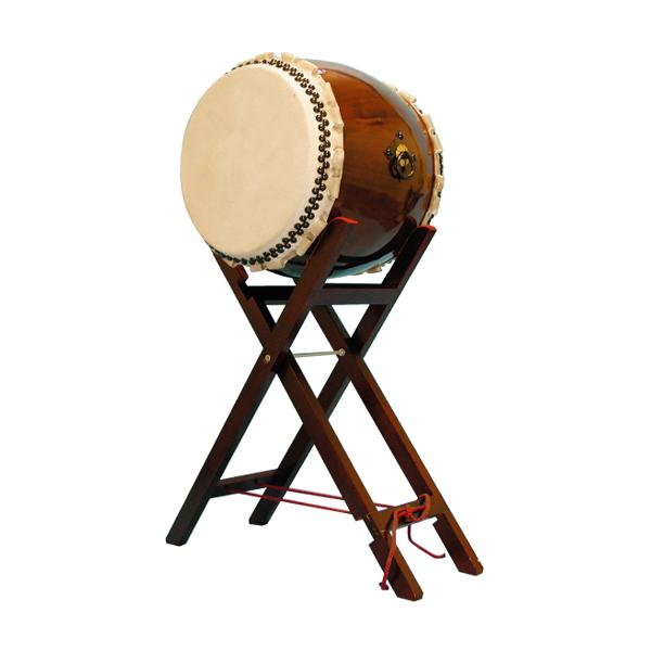 【和太鼓】長胴太鼓1.5尺(巻耳) 八丈台座付き 送料無料