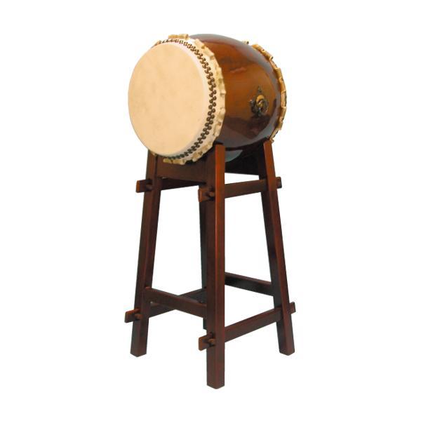 【和太鼓】長胴太鼓1.6尺(巻耳) ハの字高台座付き 送料無料