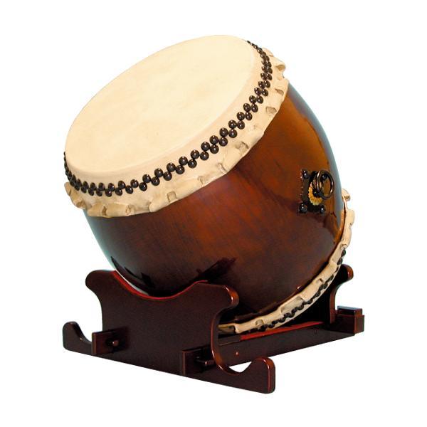 【和太鼓】長胴太鼓1.6尺(巻耳) 万能台座付き 送料無料