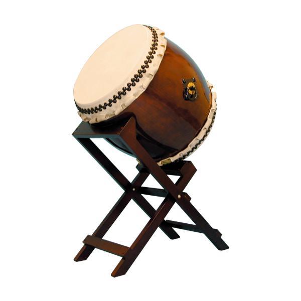 【和太鼓】長胴太鼓1.6尺(巻耳)斜め台座付き 送料無料