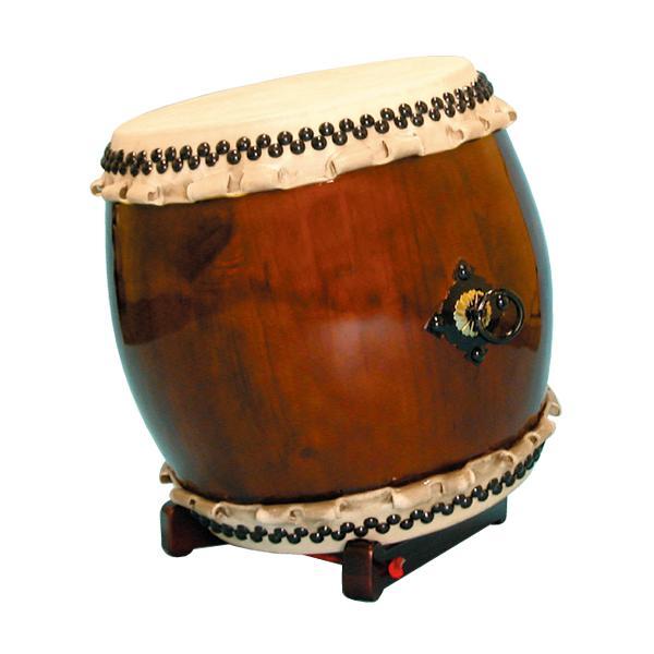 【和太鼓】長胴太鼓1.6尺(巻耳) 折りたたみ低斜め台座付き 送料無料