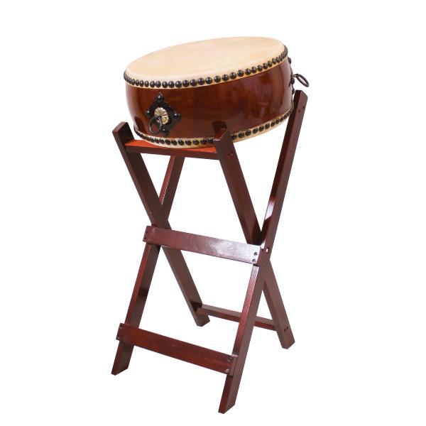 【和太鼓】平太鼓1.4尺 立台座、バチ付