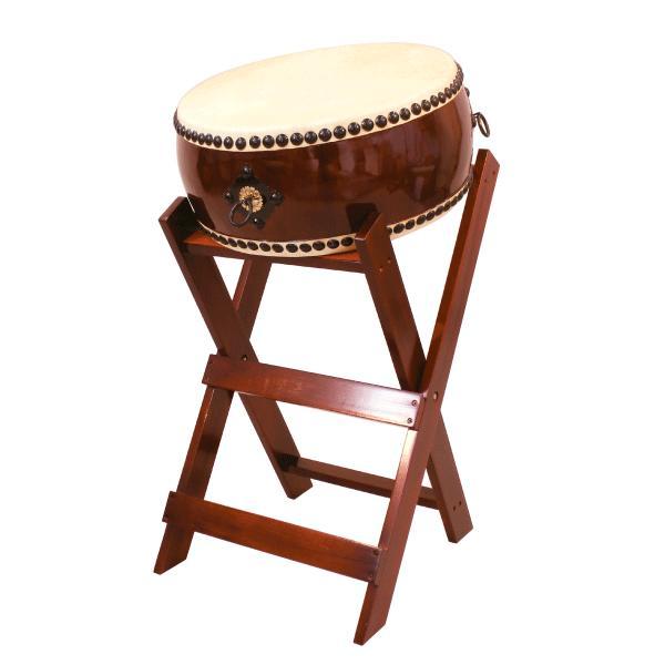 【和太鼓】平太鼓1.6尺 立台座、バチ付 送料無料
