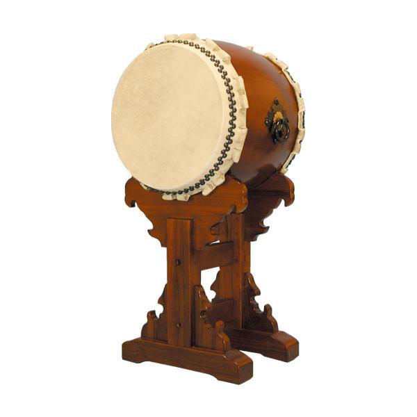 【和太鼓】楡けやき太鼓1.4尺 送料無料 宮台座付