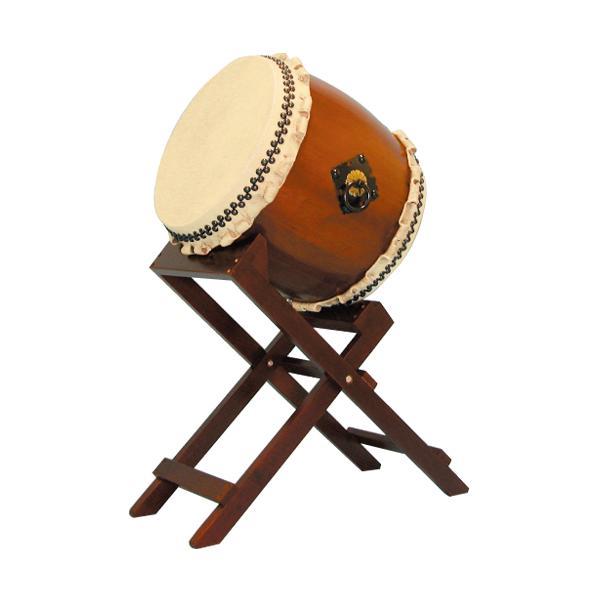【和太鼓】楡けやき太鼓1.4尺 斜め台座付