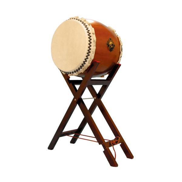 【和太鼓】楡けやき太鼓1.6尺 八丈台座付き 送料無料