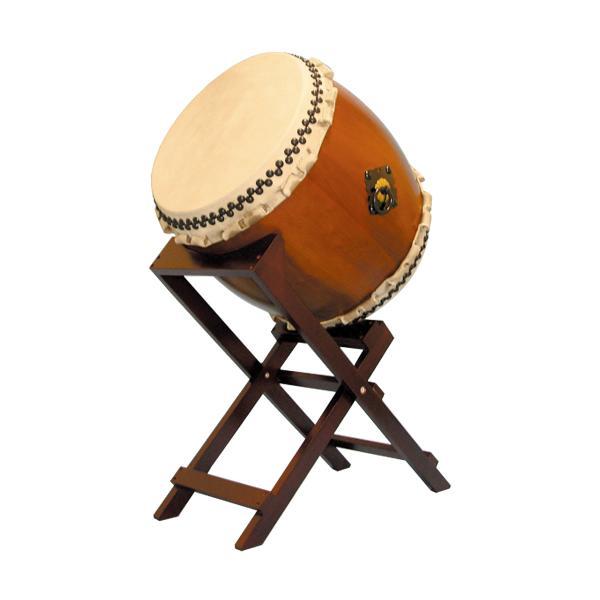【和太鼓】楡けやき太鼓1.5尺 斜め台座付