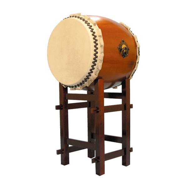 【和太鼓】楡けやき太鼓1.6尺 高台座付き 送料無料