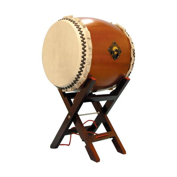 【和太鼓】楡けやき太鼓1.6尺 エックス台座付き 送料無料