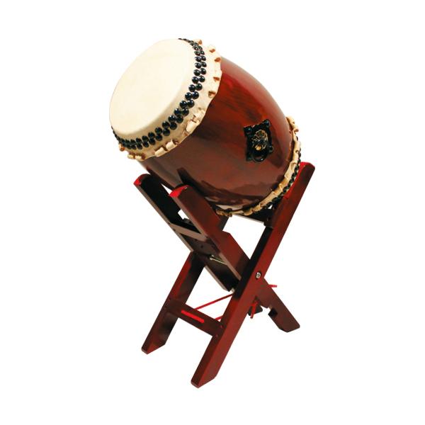 【和太鼓】長々胴太鼓1.0尺(巻耳)エックス台座セット