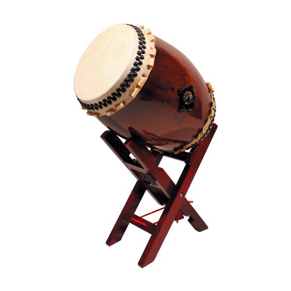 【和太鼓】長々胴太鼓1.2尺(巻耳)エックス台座セット 送料無料